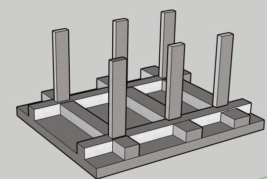 slab beam type raft foundation