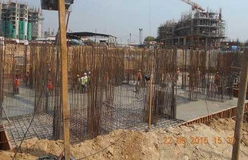completed raft foundation.
