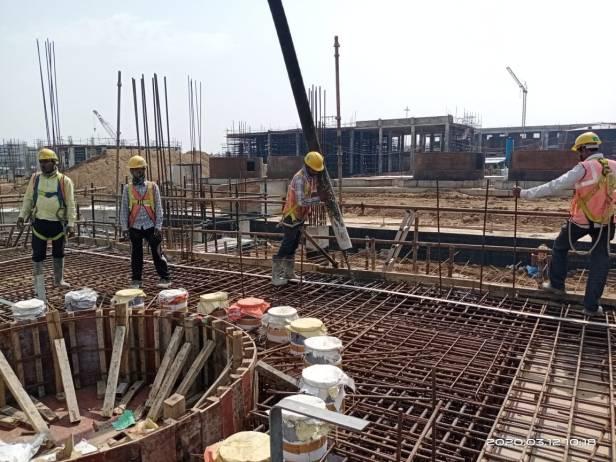 casting of raft foundation