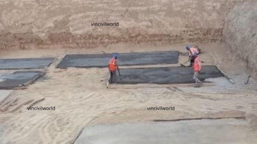 Plain cement concrete laying