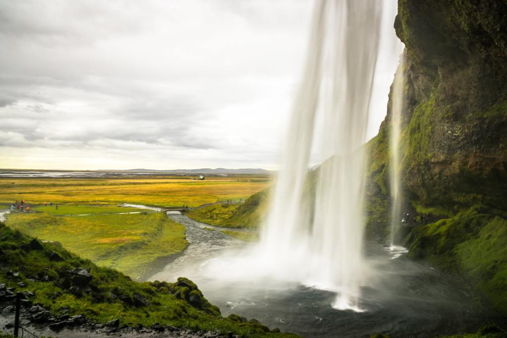 Figure shows a water fall that are used as a water source