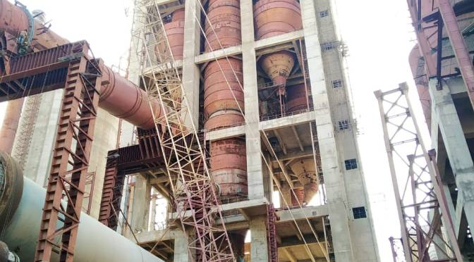 Manufacturing process of cement.