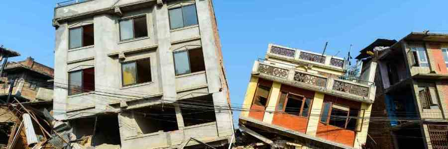 Earthquake affected structures