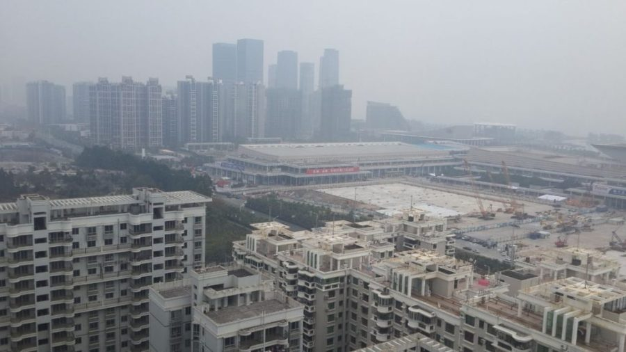Air pollution due to construction activities