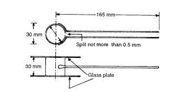 Cement tests - Le Chatelier apparatus