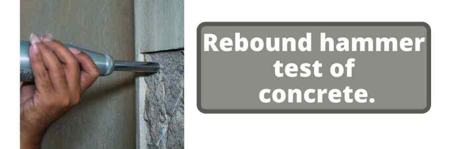Rebound hammer test on Concrete structures