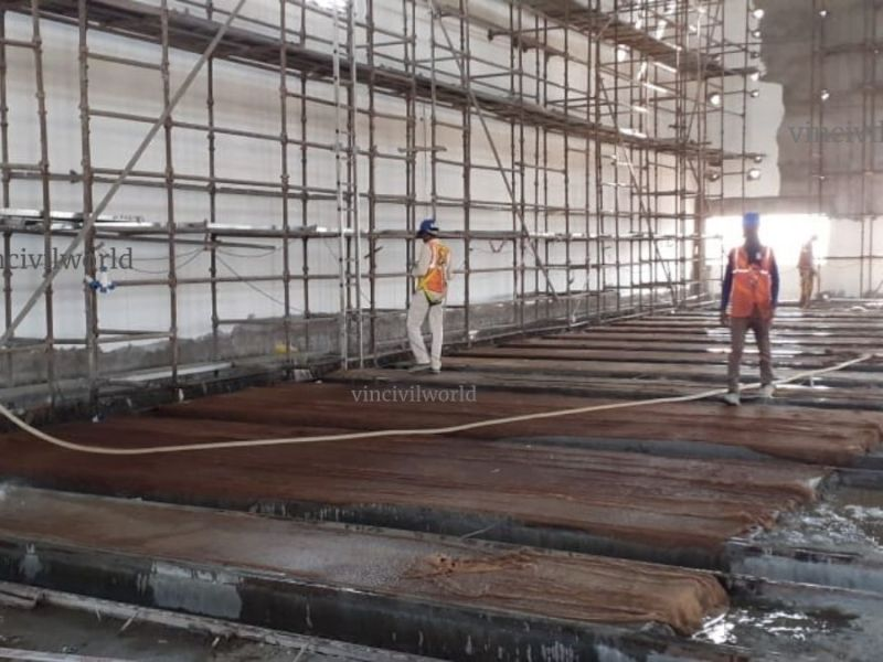 Curing of concrete - Water curing