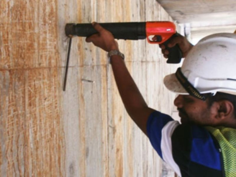 Penetration resistance test on concrete